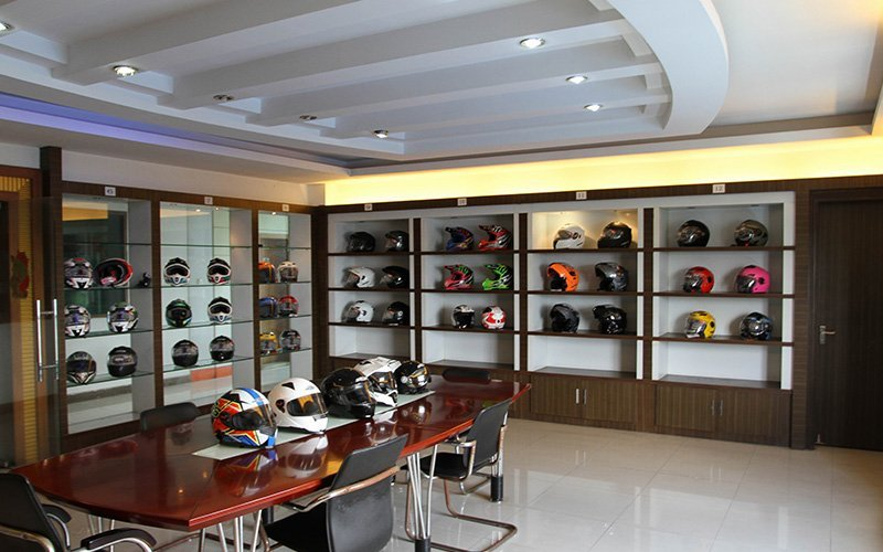 Helmet Display room