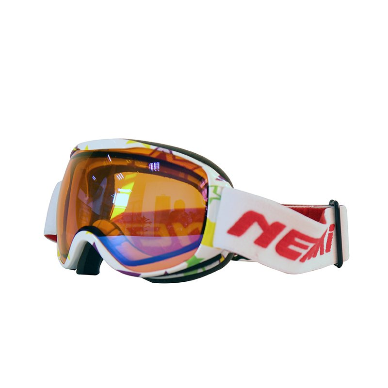 Ski-goggle-NK-1002-Kids-White-Yellow