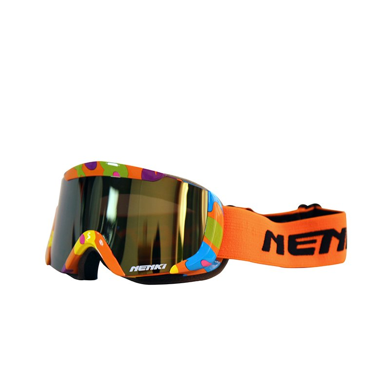 Ski-goggle-NK-1003-Kids-Orange-Blue