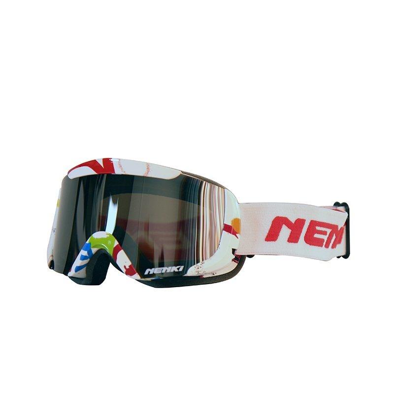 Ski-goggle-NK-1003-Kids-White-Red
